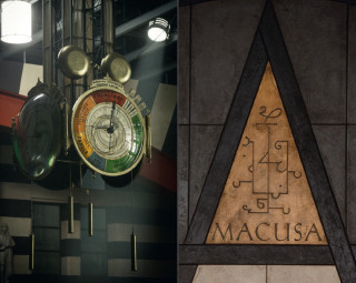 MACUSA plaque and clock from Fantastic Beasts