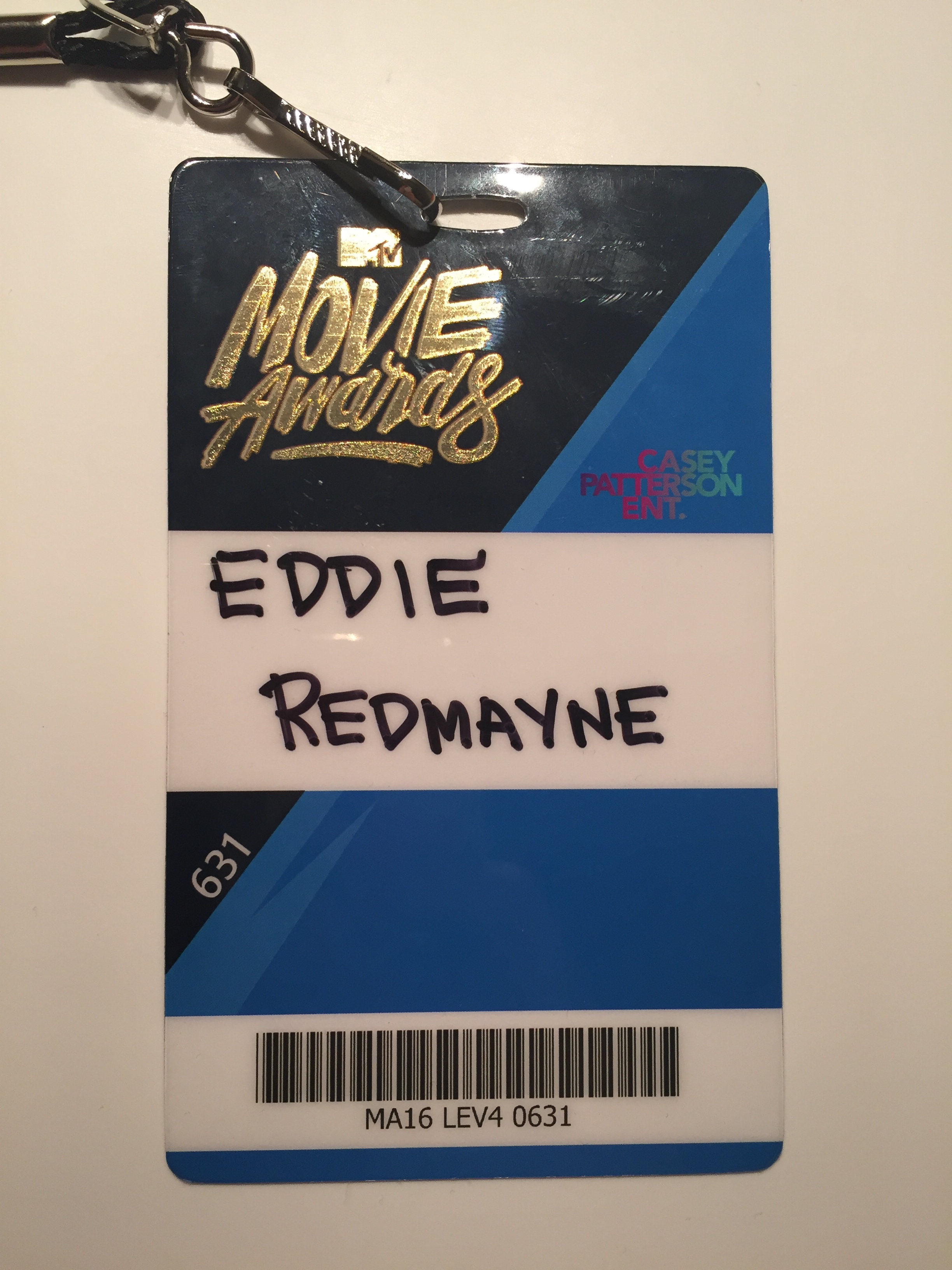 Eddie's MTV Movie Awards pass