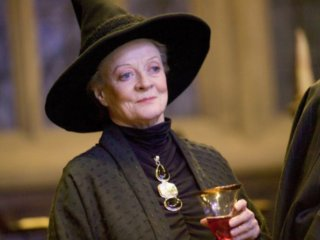 McGonagall Smiling having a drink from the Philosopher's Stone