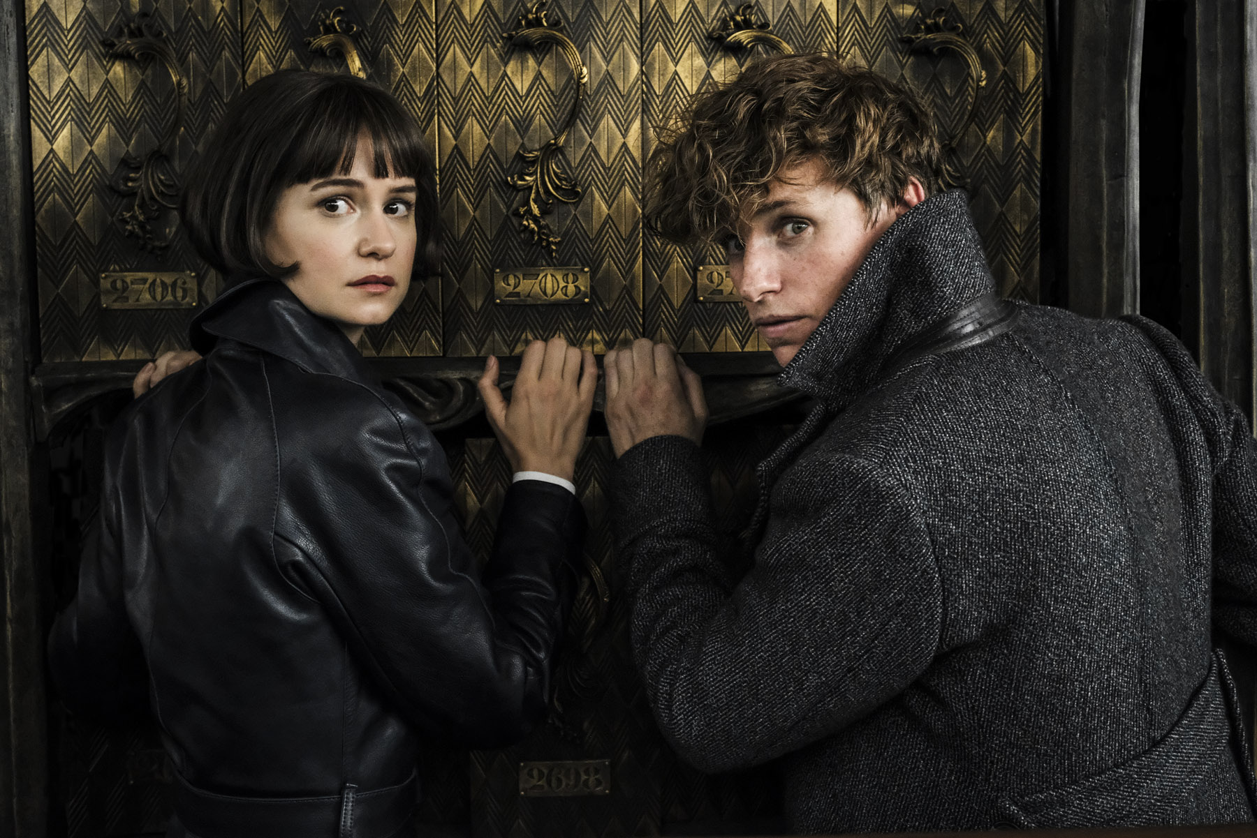 Tina Goldstein and Newt Scamander