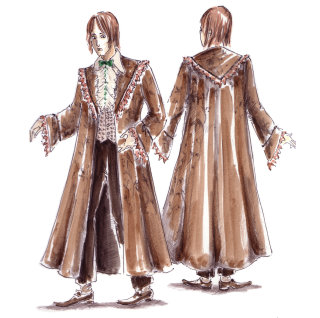 Illustration of Ron' s dress robes from the Gobelt of Fire