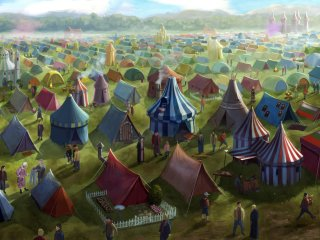 Campsite at Qudditch World Cup