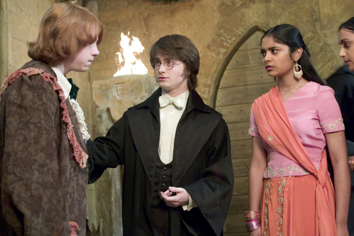 Harry potter - Harry Ron And The Patil Twins At The Yule Ball