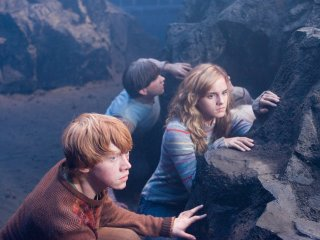 Hermione Ron and Neville at the Department of Mysteries