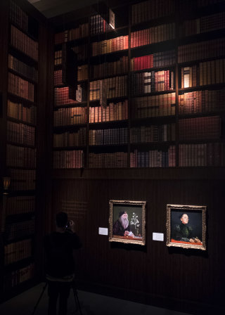 Jim Kay's portraits of the Hogwarts staff at the British Library's exhibition, Harry Potter: A History of Magic
