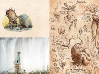 Gnome Rooftops and Mandrake Chamber of Secrets Jim Kay