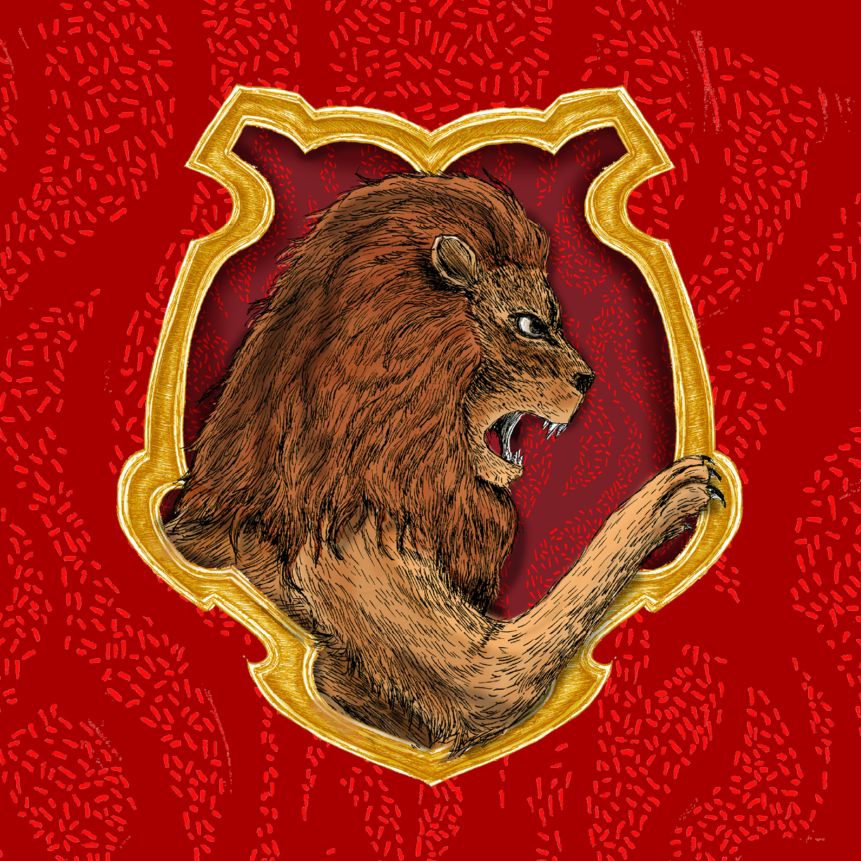 Pottermore Gryffindor House Crest Illustration
