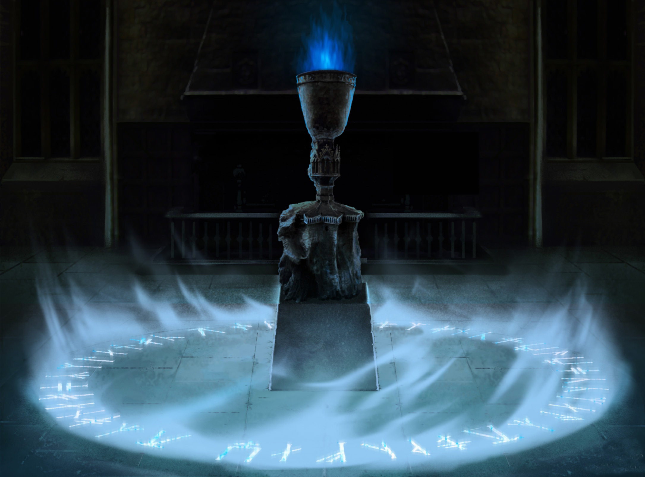 An illustration of the Goblet of Fire and the Age Line.