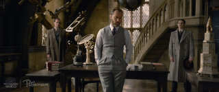 Albus Dumbledore in the Defence Against the Dark Arts classroom from the Fantastic Beasts: Crimes of Grindelwald trailer