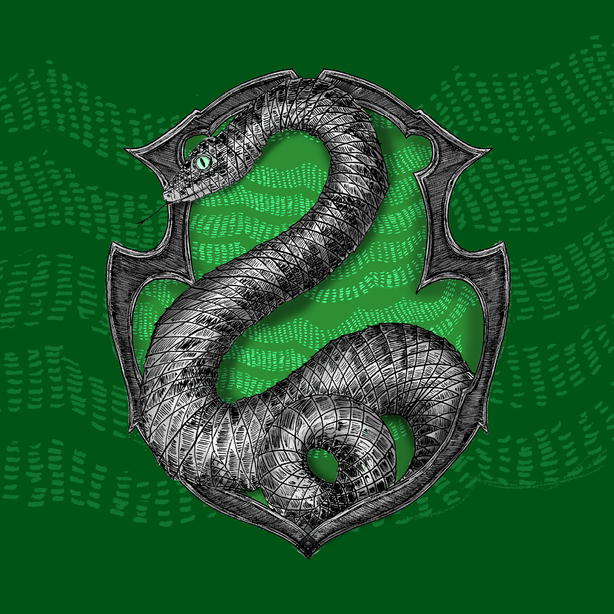 Slytherin Crest from Pottermore