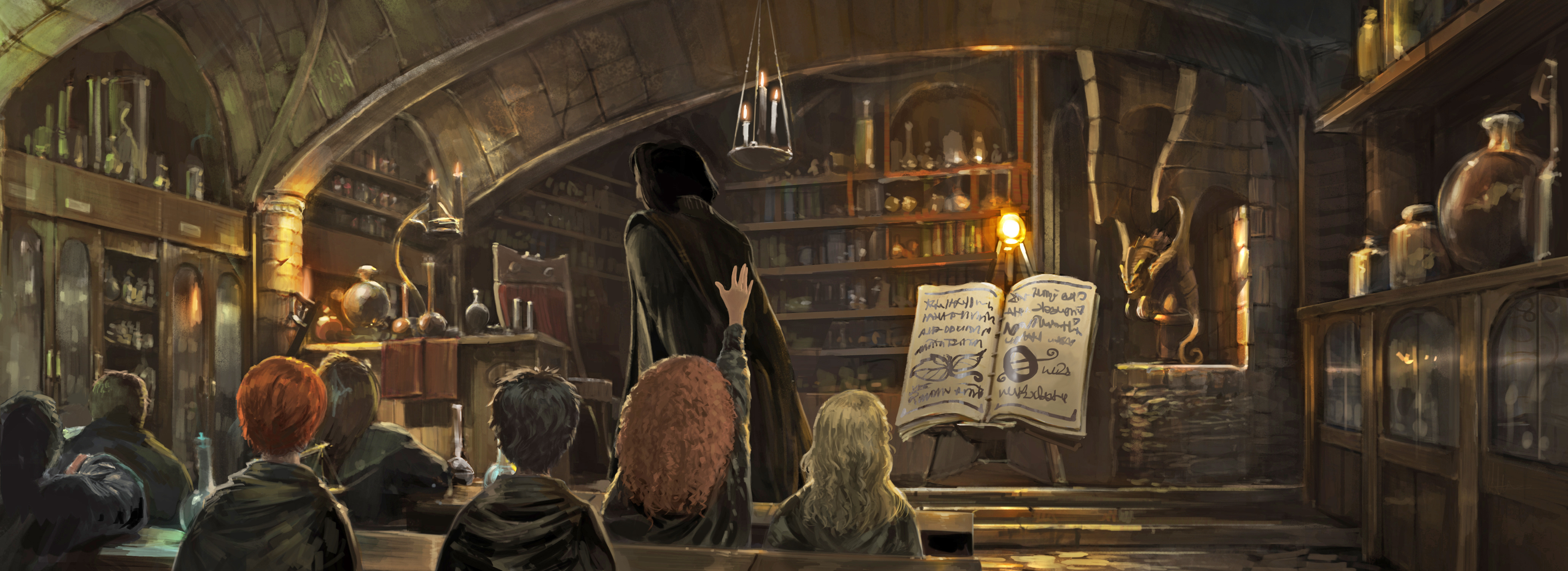 Snape teaching potions from the Philosopher's Stone
