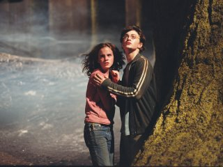 Harry and Hermione in the Forbidden Forest from the Prisoner Azkaban
