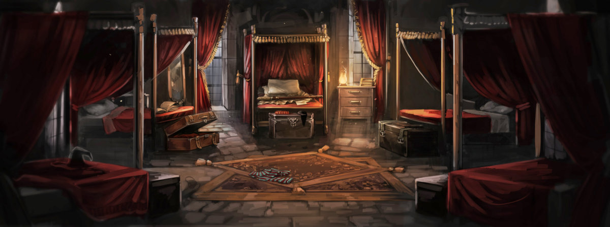 The Gryffindor Dormitory Pottermore