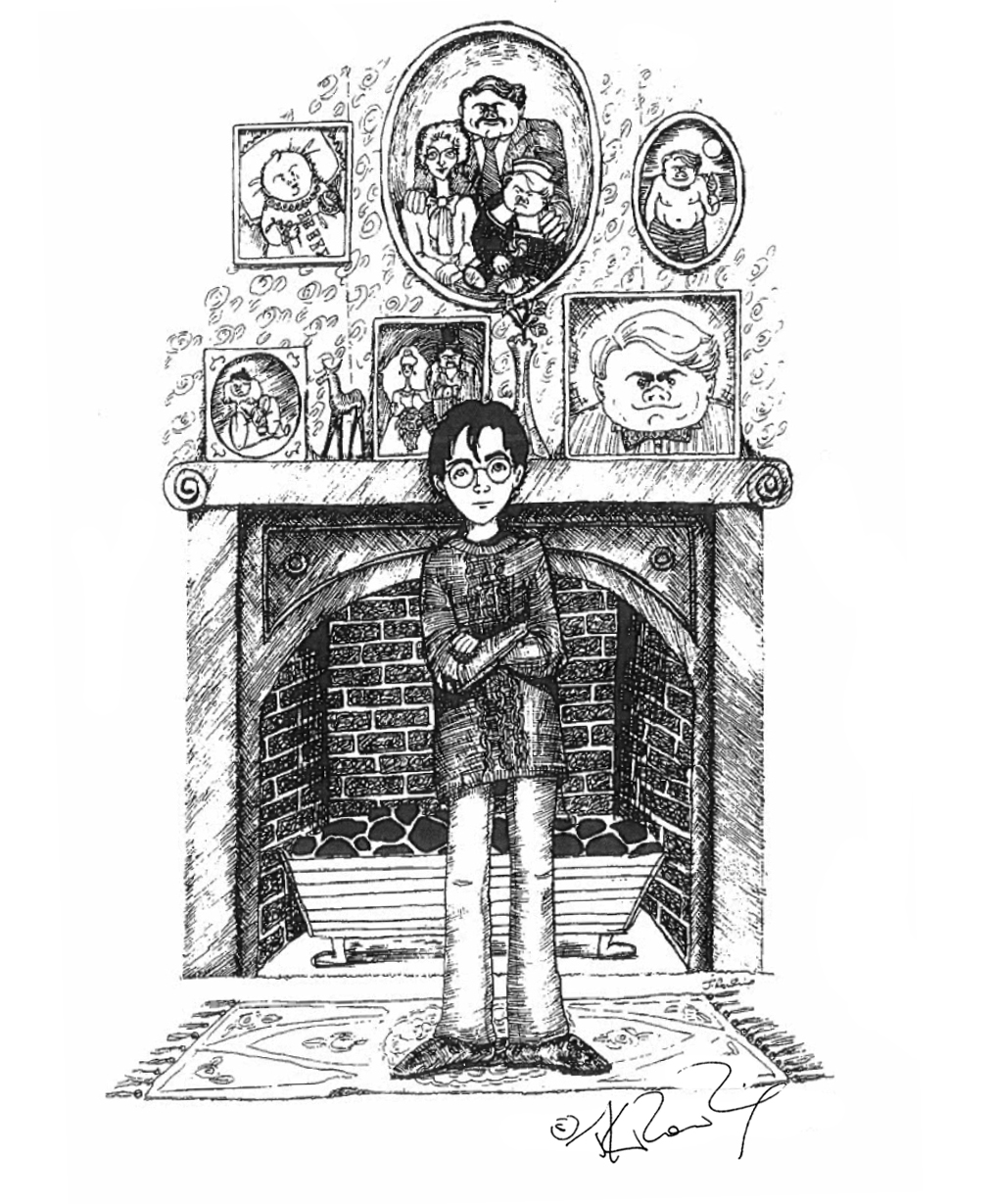 JKR Harry and the Dursleys illustration