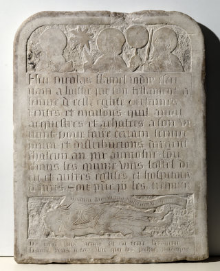 Flamel tombstone NYHS