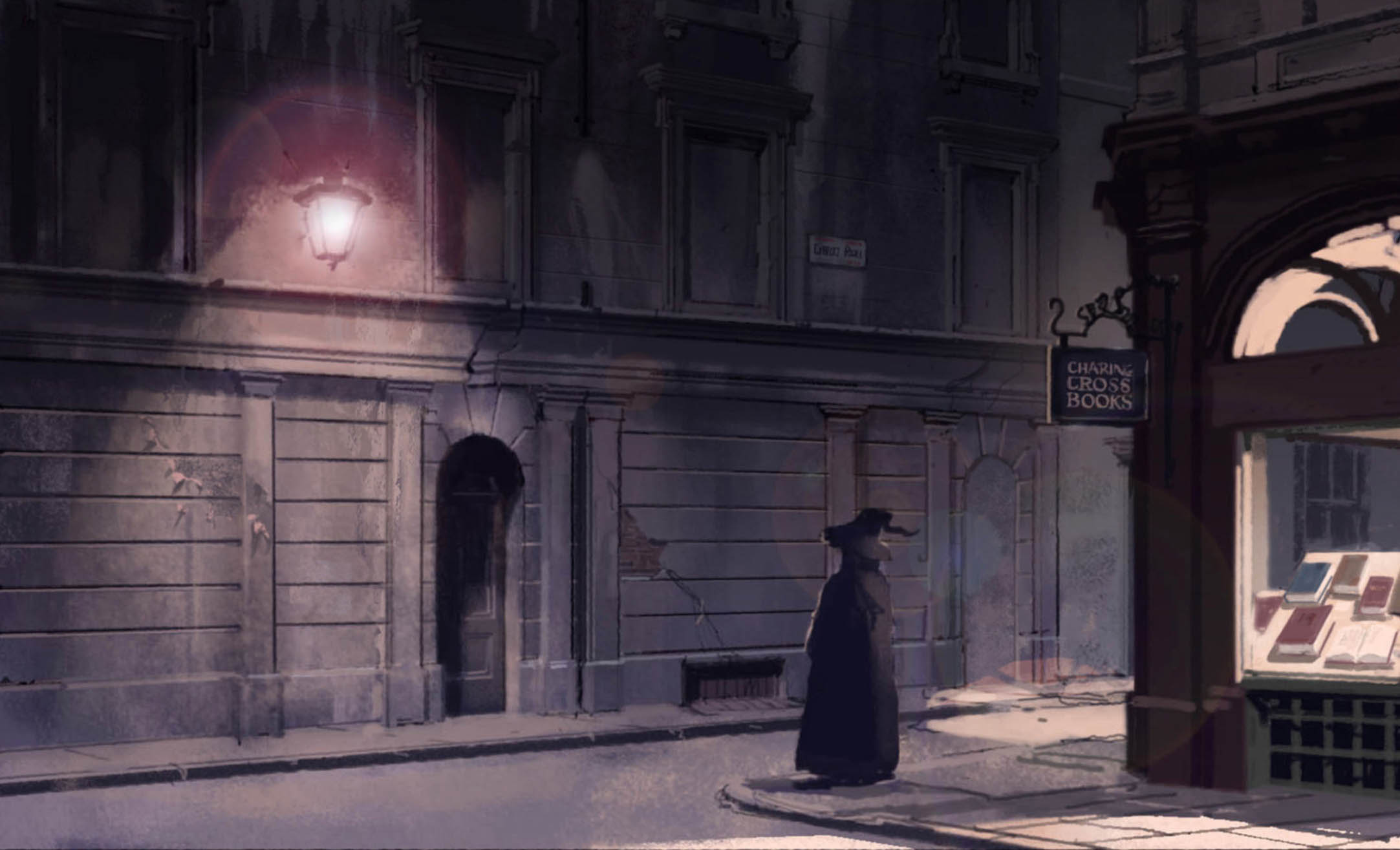 Concept illustration of the Leaky Cauldron entrance