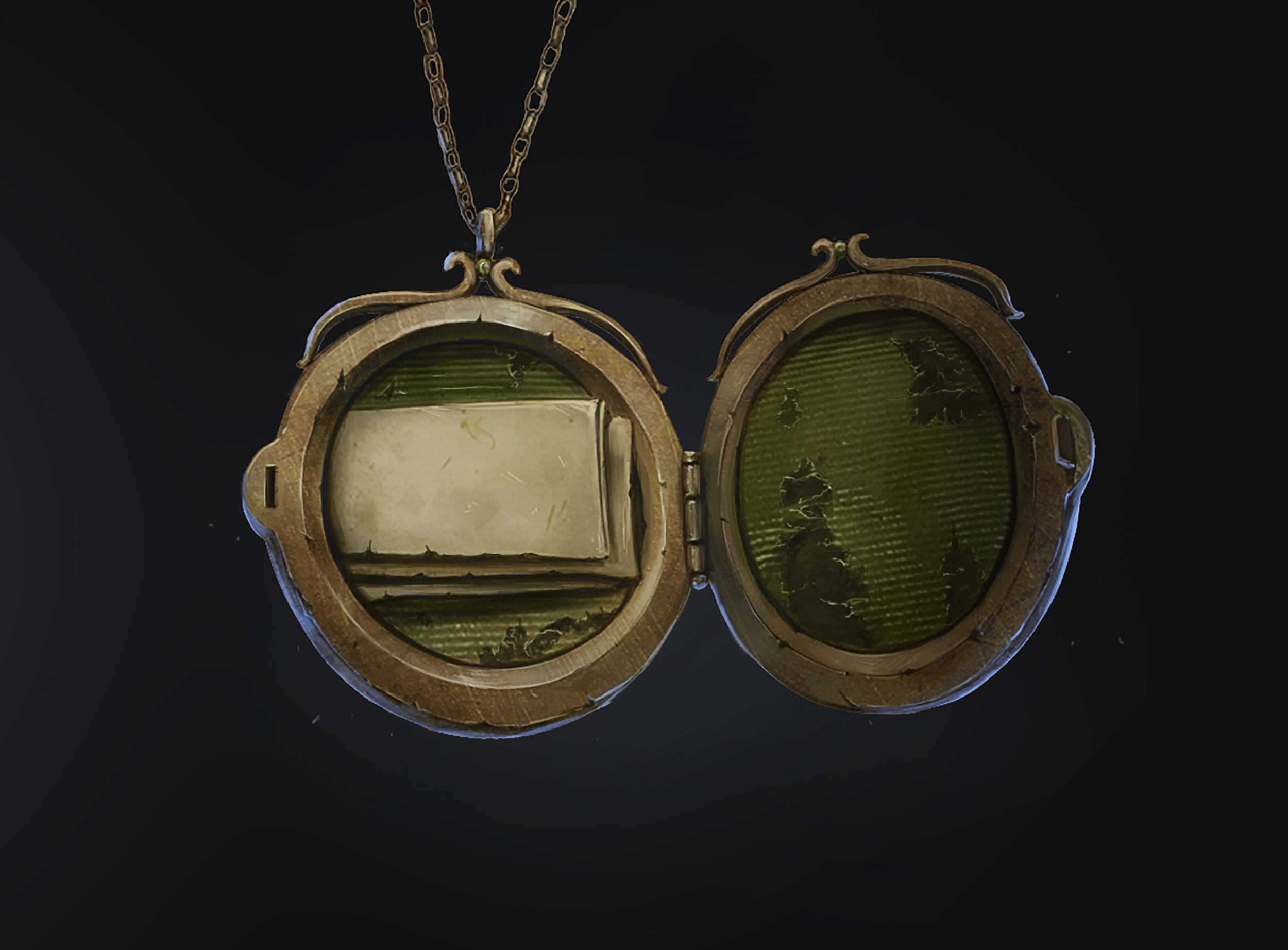Illustration of Voldemort's locket Horcrux