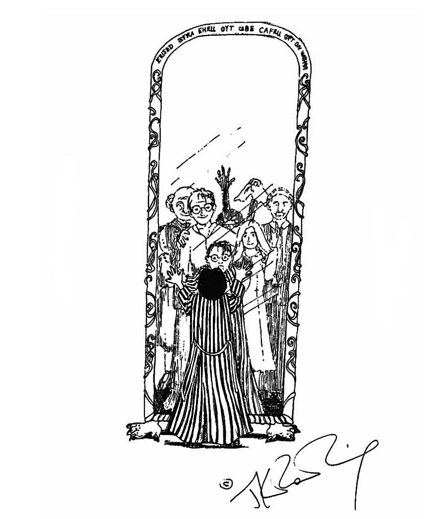 JKR Mirror of Erised illustration