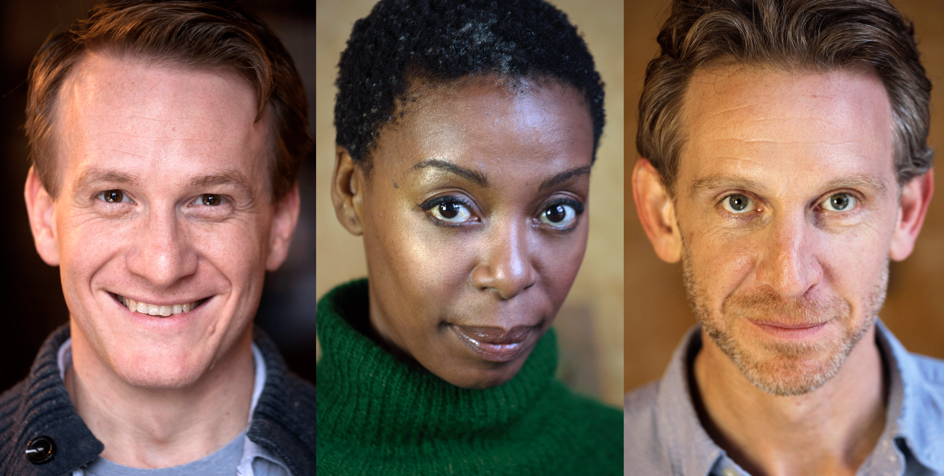 Cursed Child cast Harry Hermione Ron individual headshots