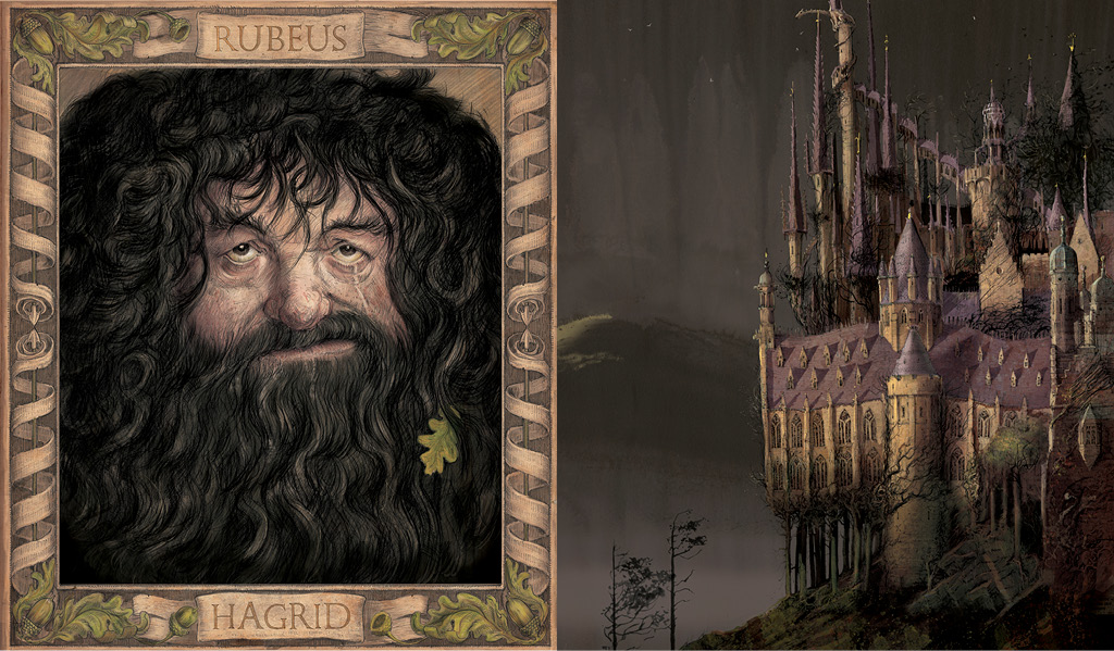 Hagrid and Hogwarts Chamber of Secrets Jim Kay