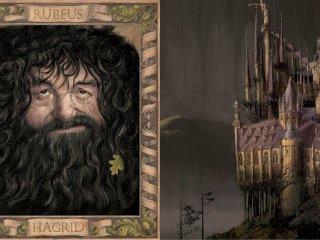 Hagrid and Hogwarts Chamber of Secrets Jim Kay