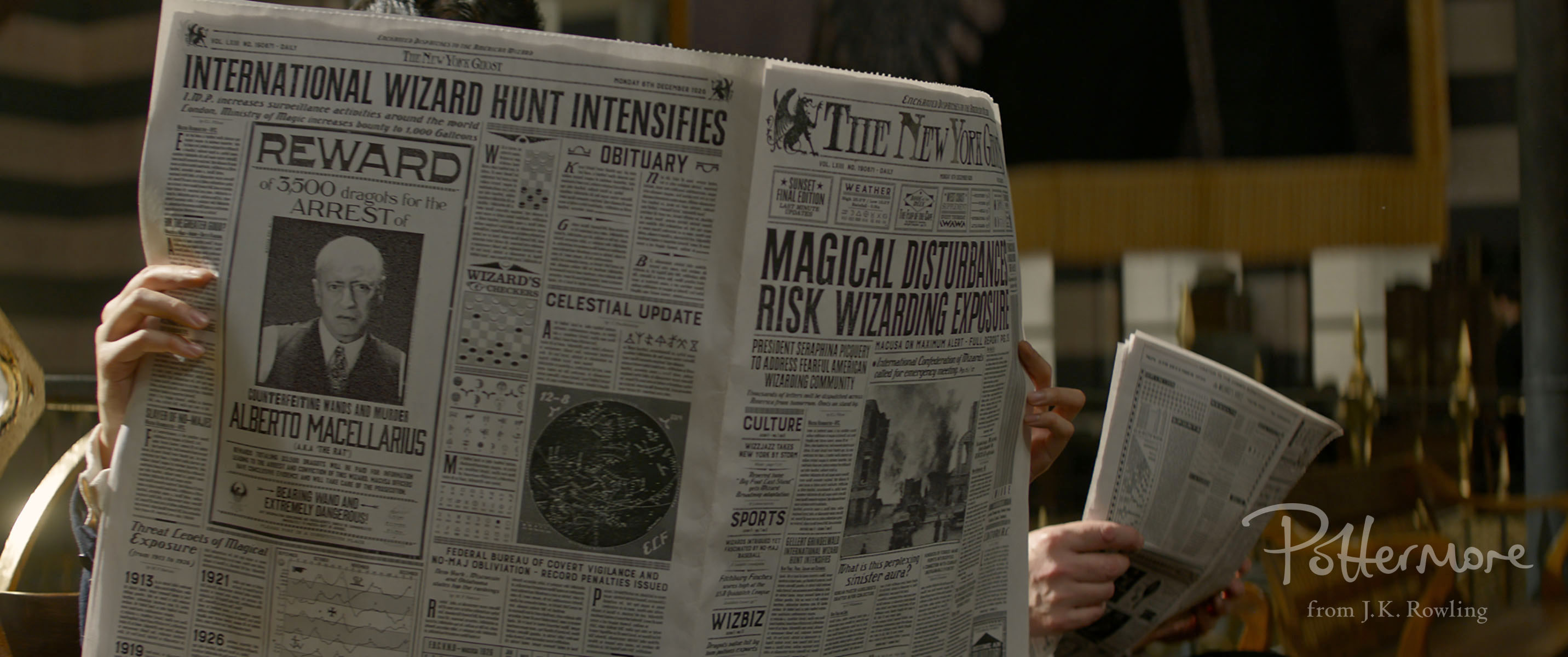The New York wizard newspaper Fantastic Beasts teaser trailer pic 10