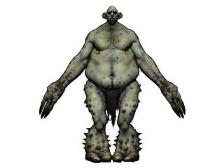 illustration of a mountain troll