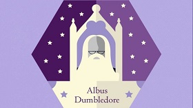 Illustration of Albus Dumbledore's Chocolate Frog Card