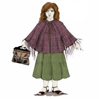 An illustration of Molly Weasley from the Philosopher's Stone.
