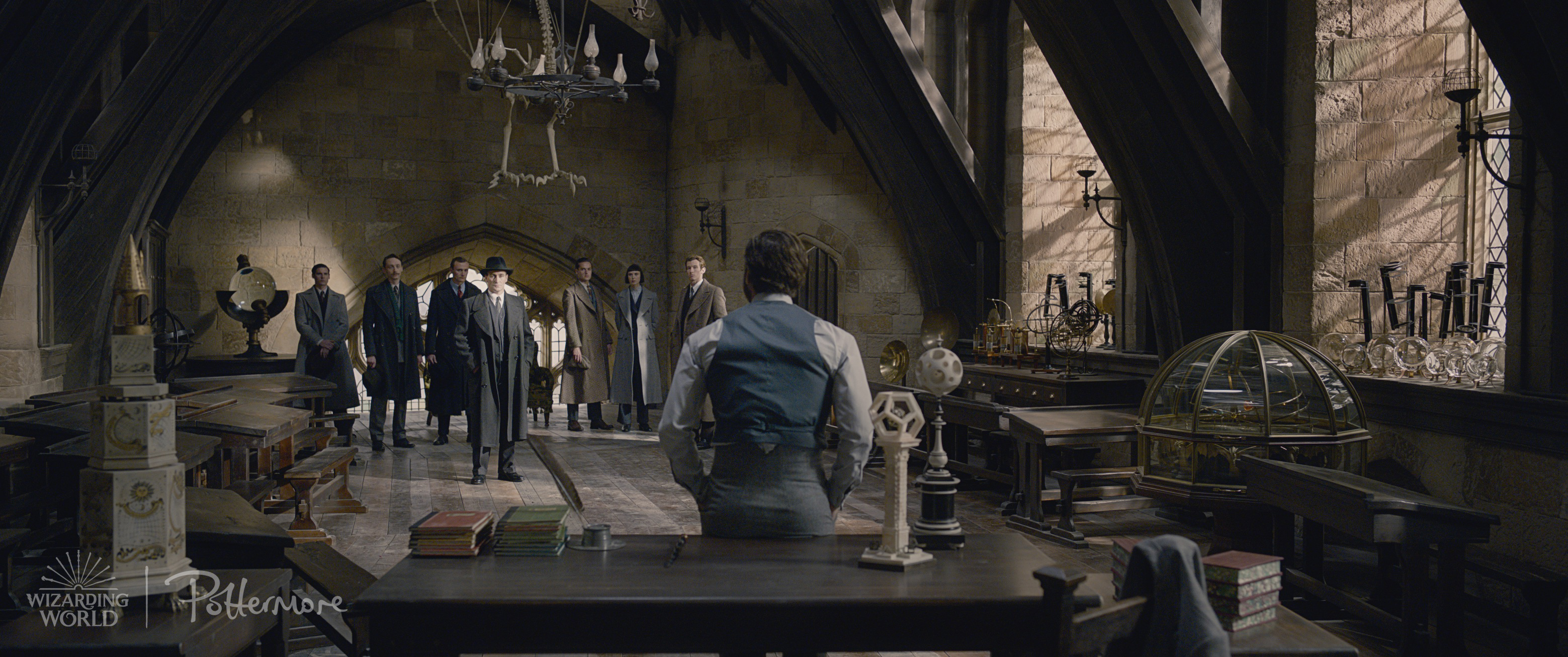 Dumbledore in Hogwarts classroom in the Fantastic Beasts: Crimes of Grindelwald trailer