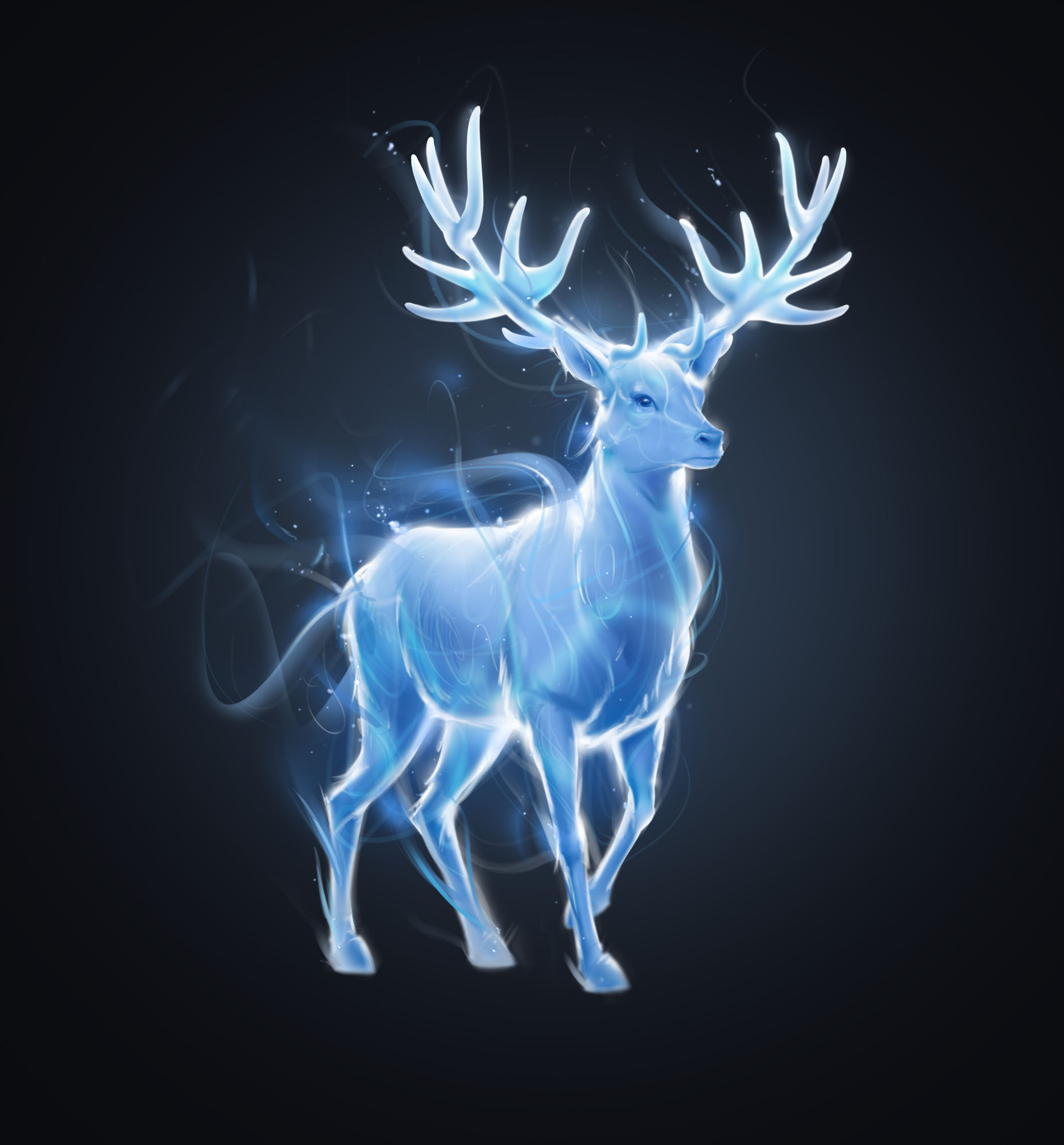 Illustration of Harry Potter's stag Patronus
