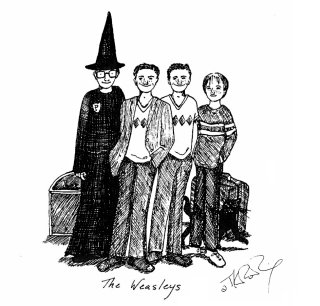 JKR Weasleys illustration