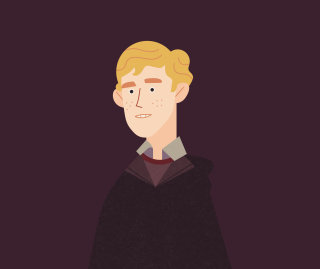 Illustration of Seamus Finnigan from the Dumbledore's Army infographic