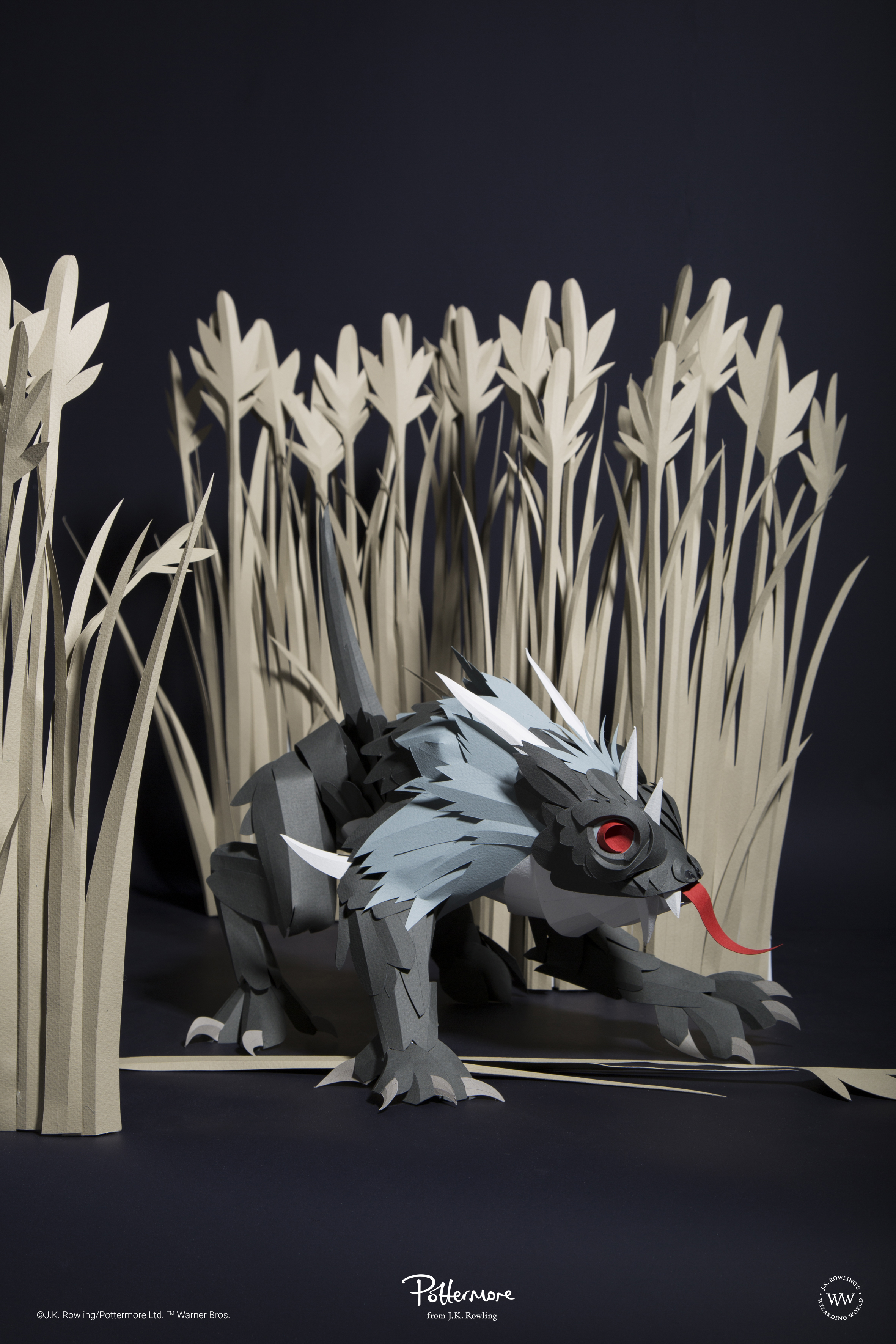 Photograph of a paper model of a Hodag, by artist Andy Singleton