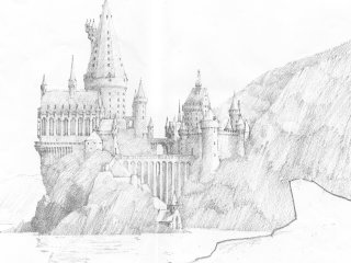 A sketch of Hogwarts castle