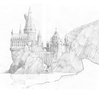 Hogwarts castle pottermore a sketch of hogwarts castle malvernweather Image collections