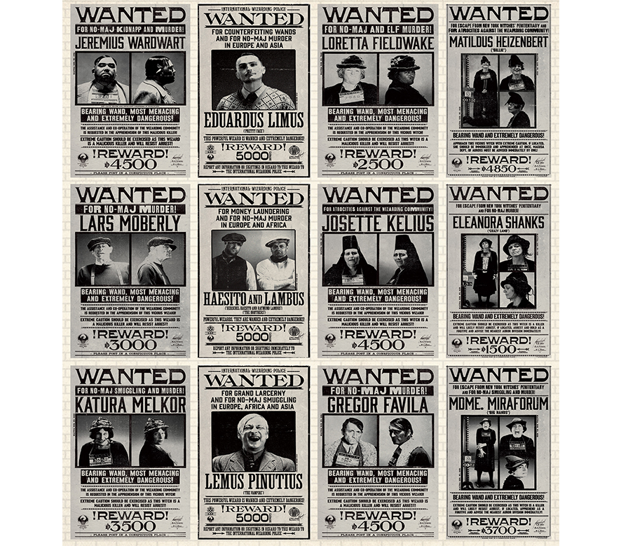 photograph about Harry Potter Wanted Poster Printable called Guiding the scenes of Excellent Beasts: Desired Posters