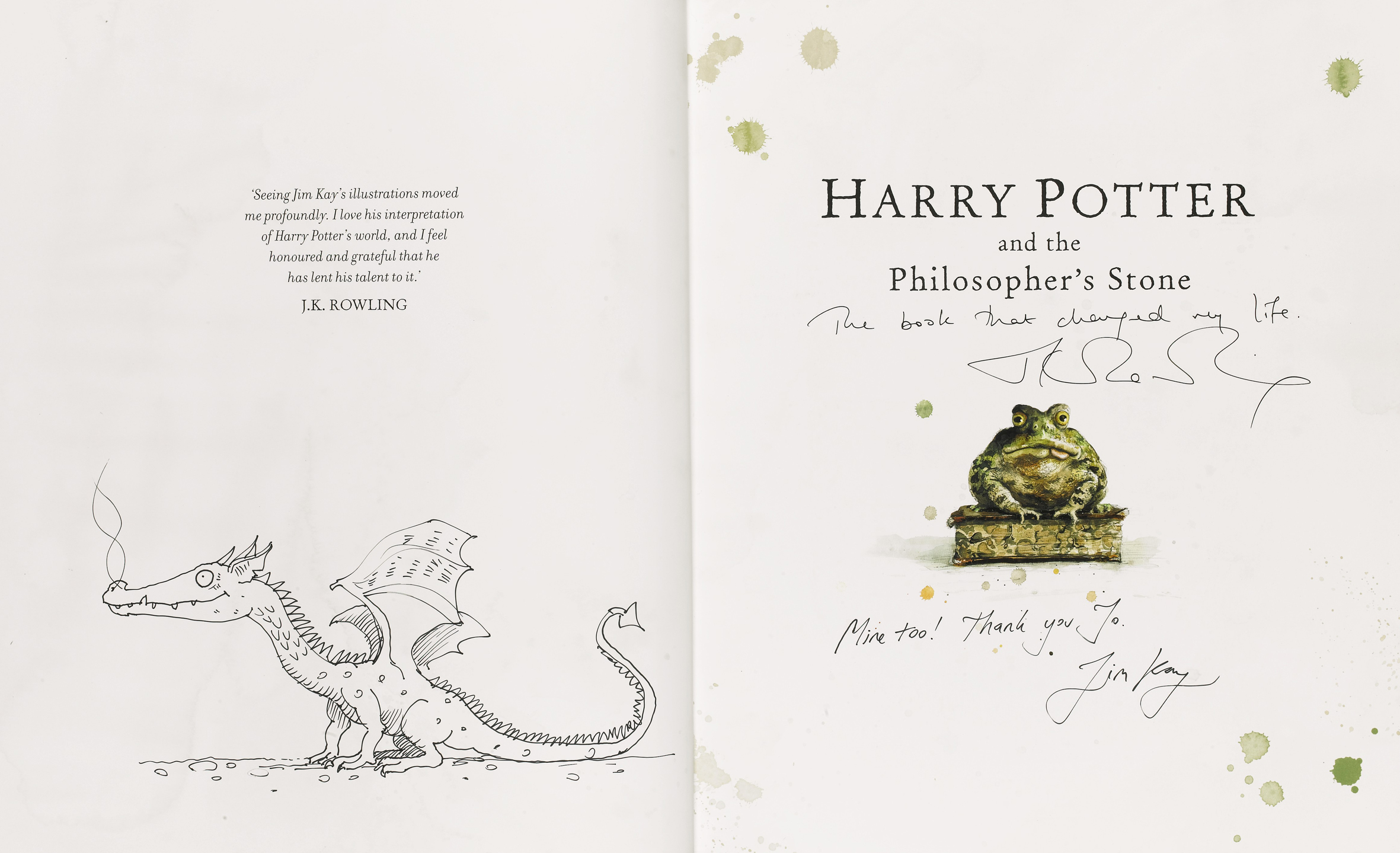 Deluxe edition illustrated Philosopher's Stone autographs