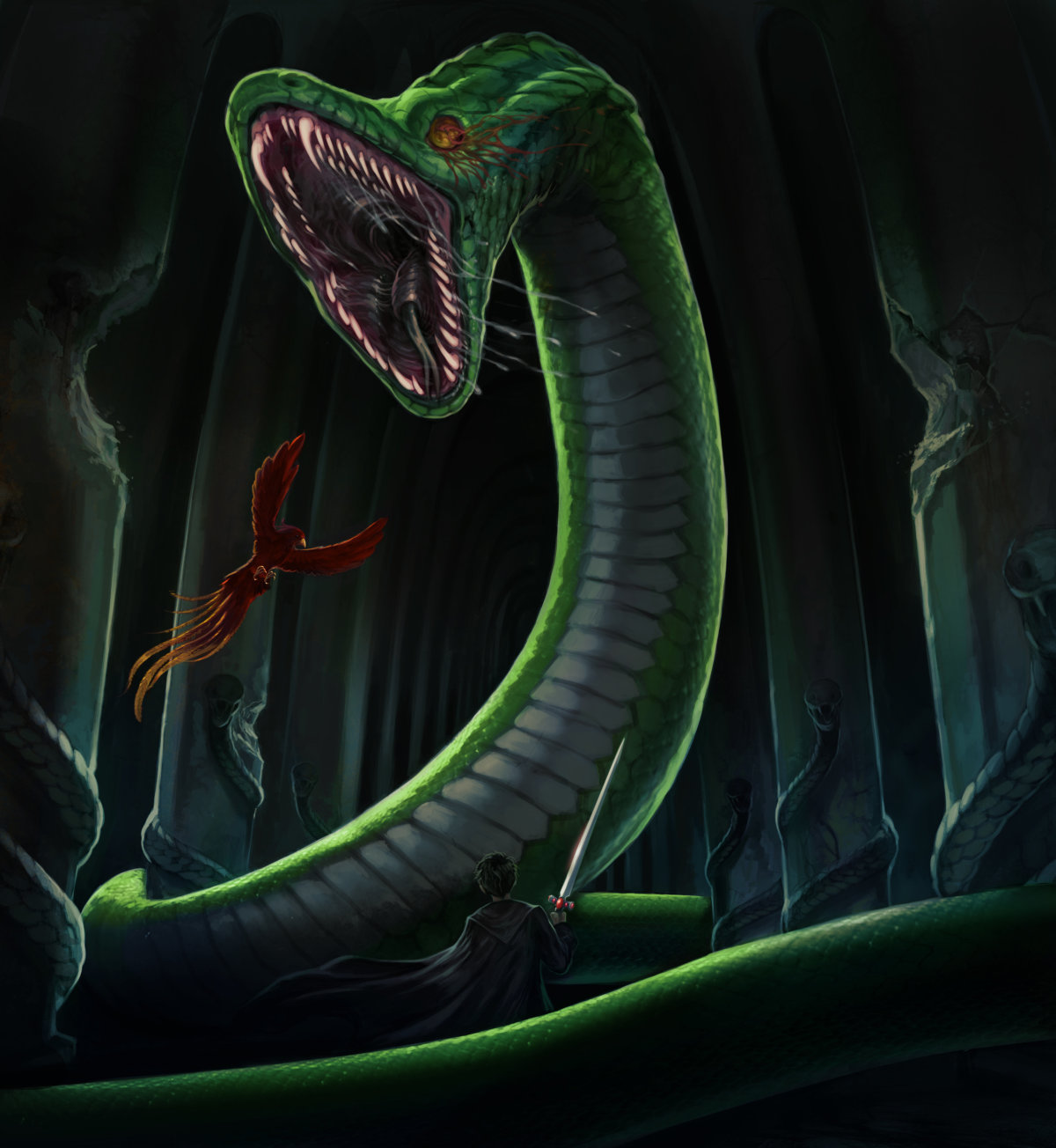 Behind the scenes: the Basilisk - Pottermore