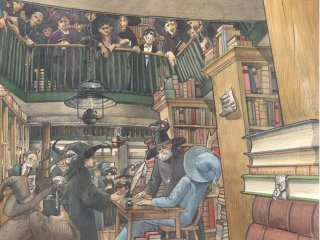 Queues spiral around the shop to meet Lockhart at his book signing in Flourish and Blotts.