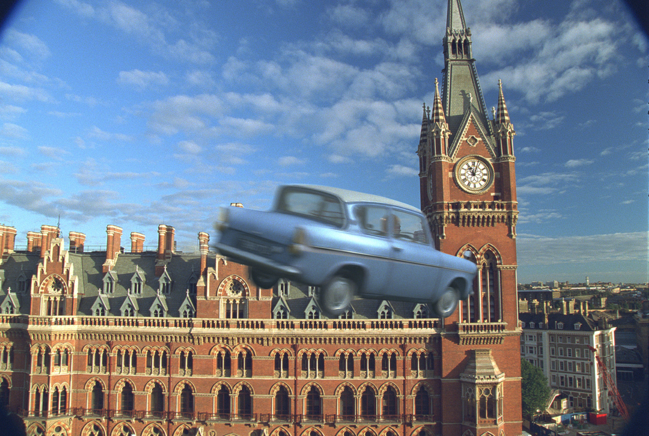 Ford Anglia leaving King's Cross station