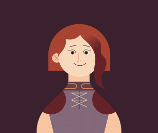 Illustration of Alice Longbottom from the first Order of the Phoenix infographic