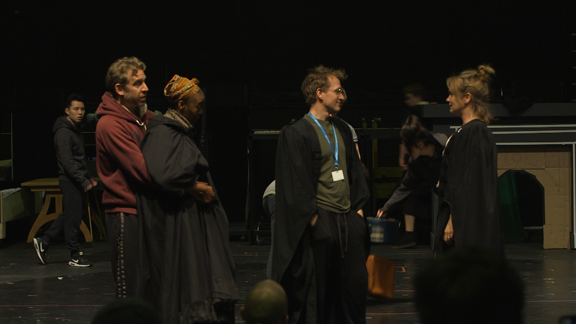 Actors Paul Thornley, Noma Dumezweni, Jamie Parker and Poppy Miller