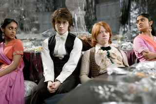 Harry and Ron left out at the Yule Ball in Goblet of Fire