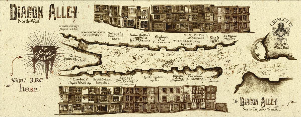 Diagon Alley Map Locations   Pottermore