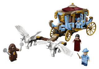 LEGO Beauxbatons' Carriage Arrival at Hogwarts