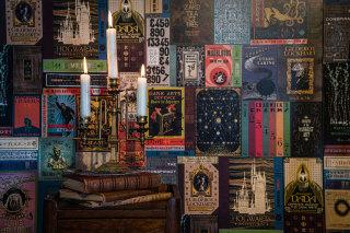 MinaLima Wizarding Books wallpaper