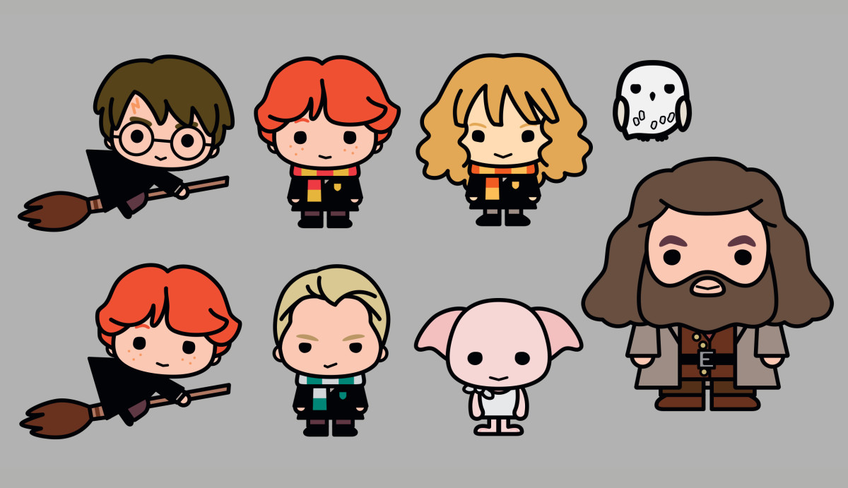 Character Design Kawaii : Harry potter characters re imagined in adorable new