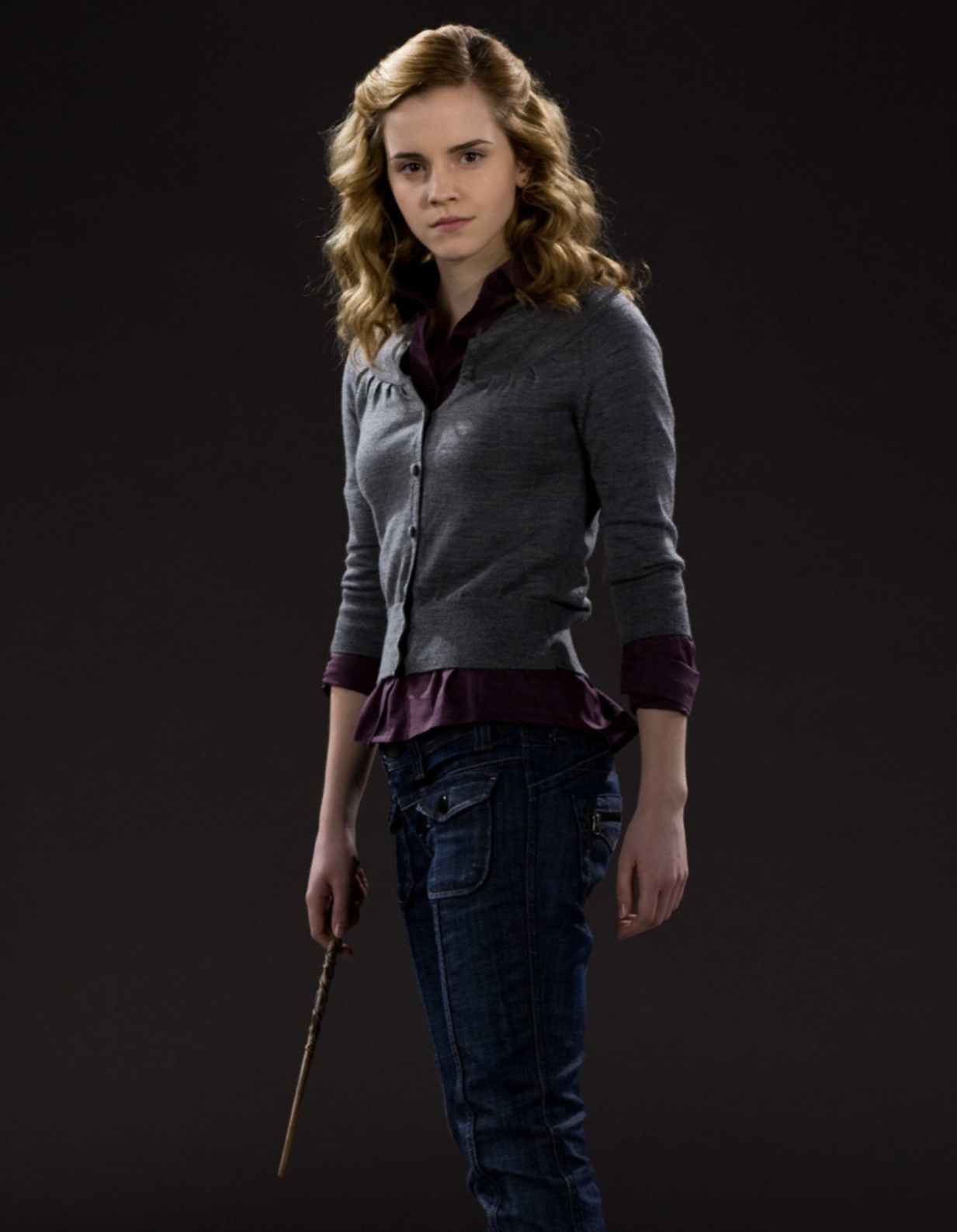 Hermione with wand