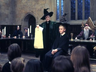 Draco being sorted into Slytherin
